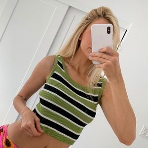 Verge girl striped knit tank